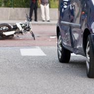 Accident entre un pieton et une moto